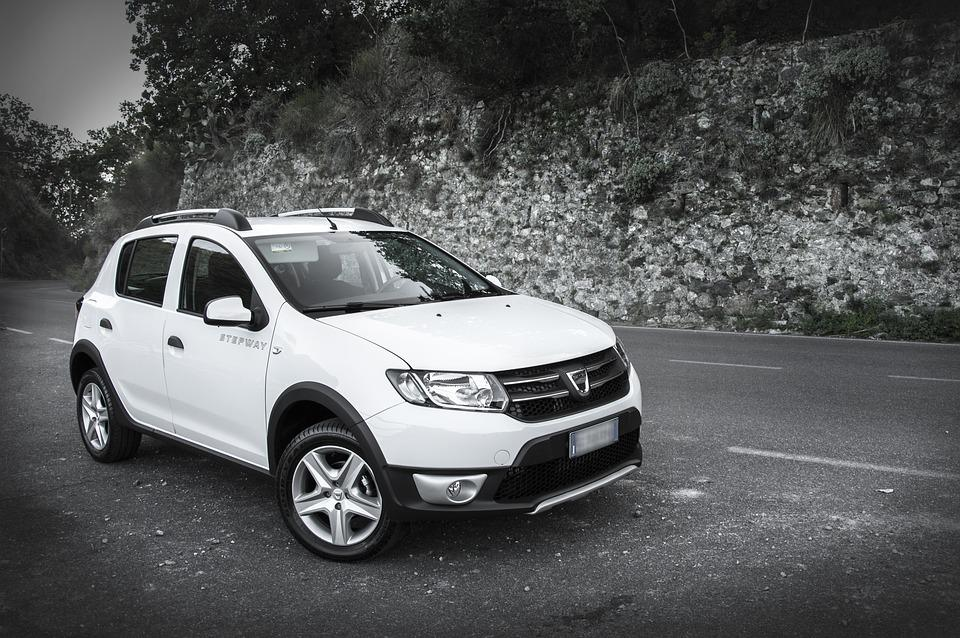 Dacia, Sandero, Stepway, White, Machine, Car, Auto