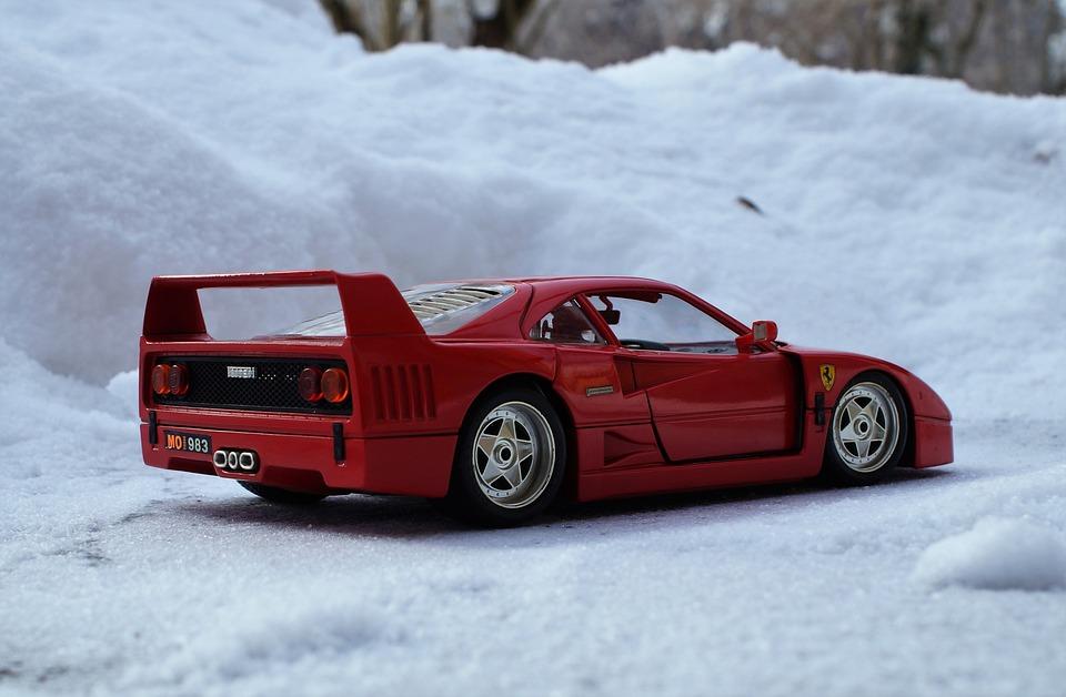 Model Car, Auto, Ferrari, Red, Sports Car, Toys, Model
