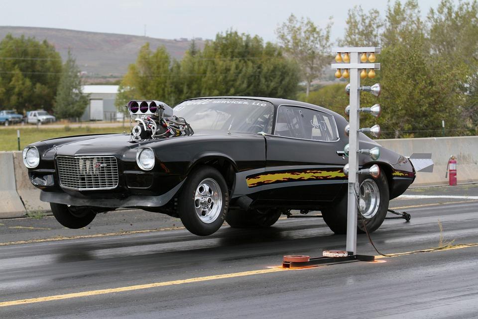 Drag Racing, Camaro, Chevrolet, Car, Auto, Vehicle