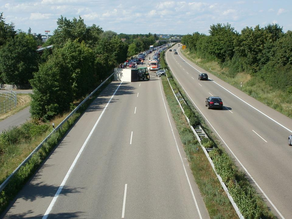 Autobahn, Accident, Germany, Car, Road, Transport