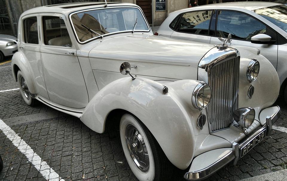 Vintage, Car, Bentley, Porto, Portugal, Automobile