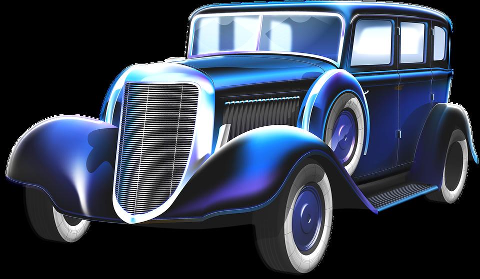 Gangster Car, Old Car, Automobile, Mobster, Nostalgia