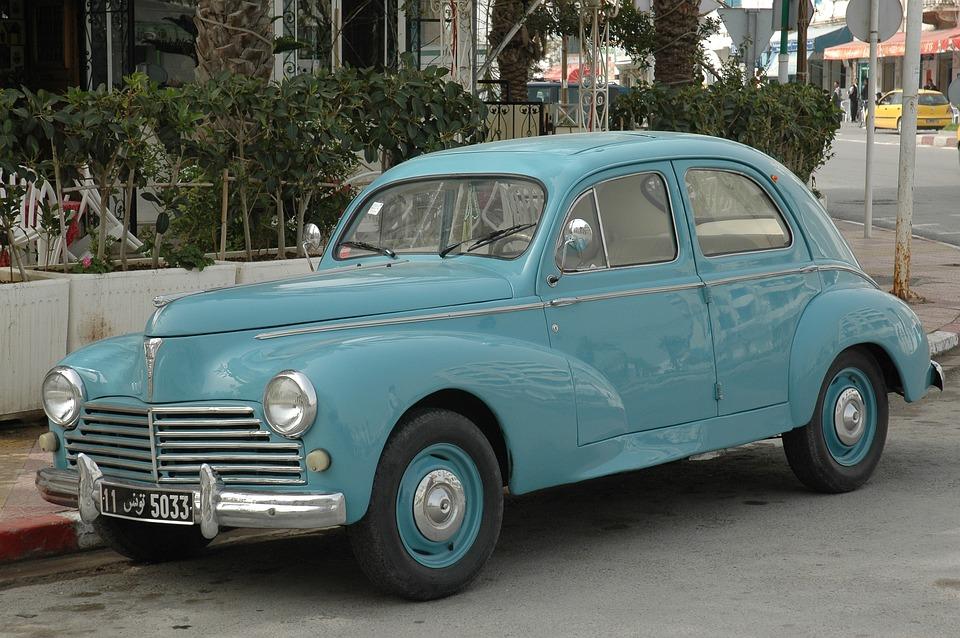Peugeot, 203, Old Car, Automobile