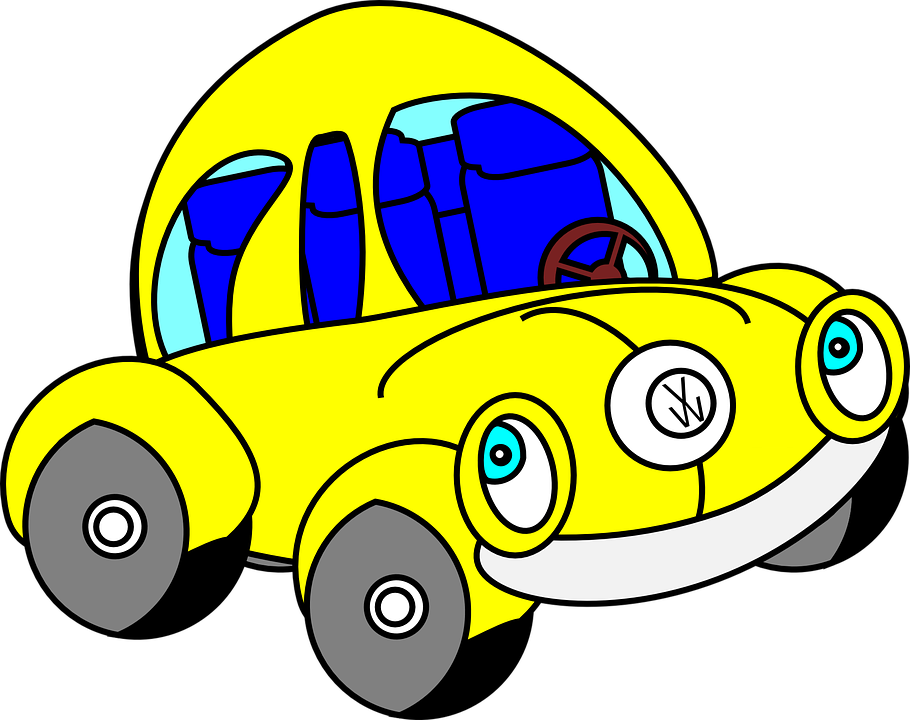 Beetle, Car, Funny, Yellow, Automobile, Oldtimer