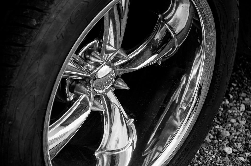Auto, Rims, Chrome, Rubber, Wheel, Vehicle, Automobile