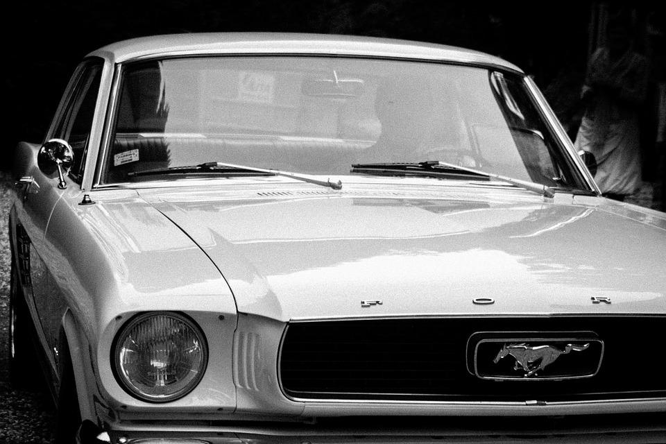 Ford, Mustang, Car, Automotive, White, Old, Gloss