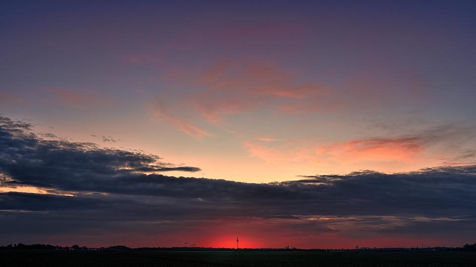 Sunset, Autumn, Afterglow, Sky, Mood, Landscape