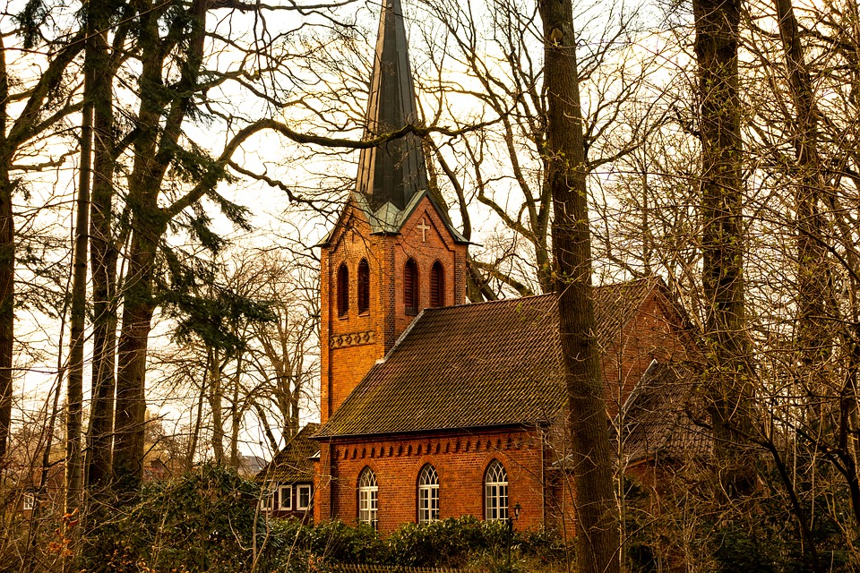 Church, Autumn, Nature, Mood, Architecture, Chapel