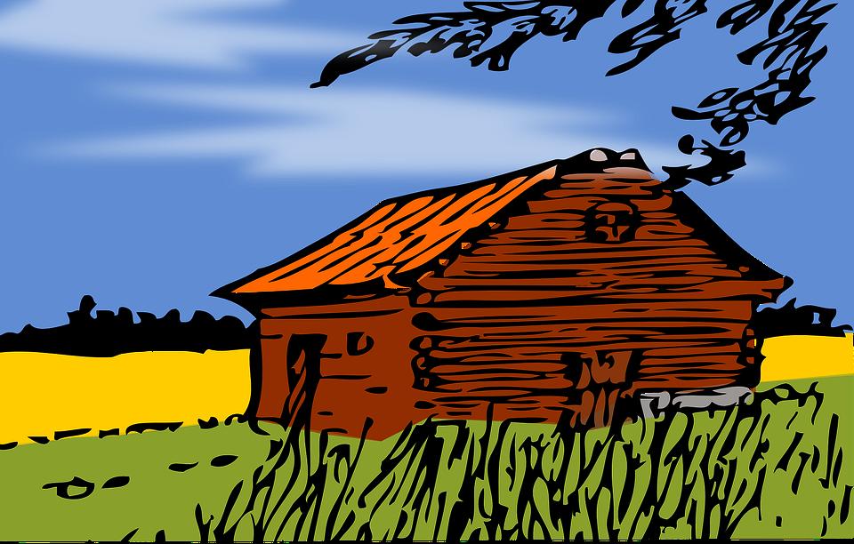 Barn, Cabin, Cottage, Autumn