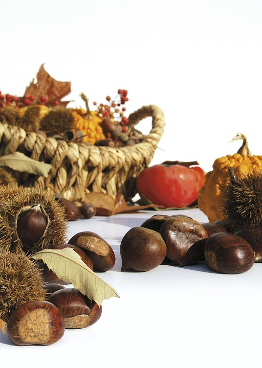 Autumn, Fruit, Chestnuts, Basket, Fruit Basket, Eat