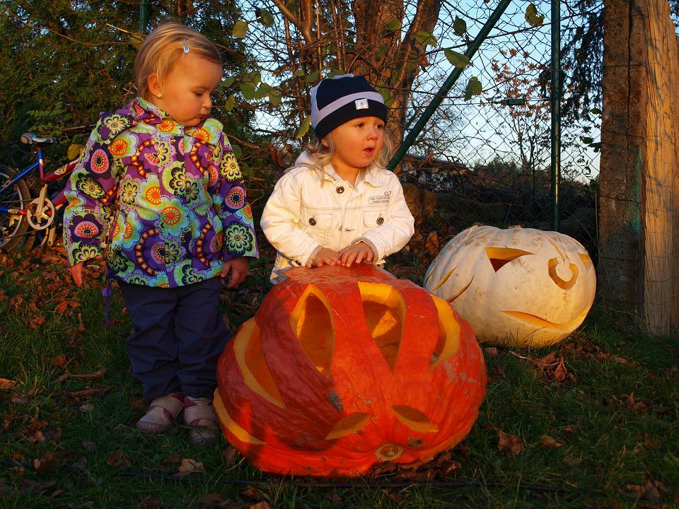 Pumpkin, Autumn, Children, Halloween, Orange