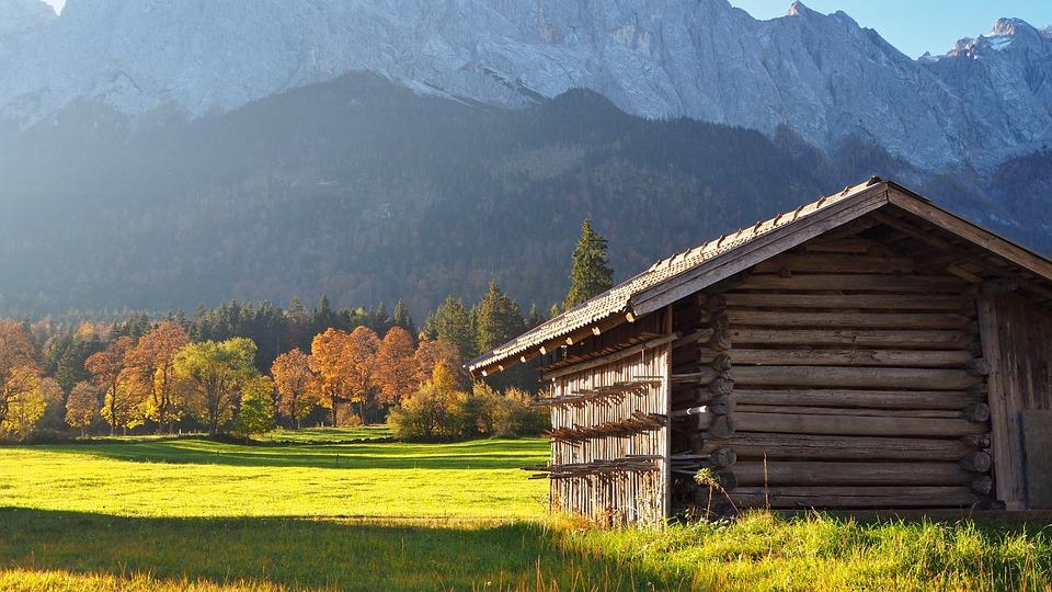 Nature, Landscape, Autumn, Autumn Colours, Hut