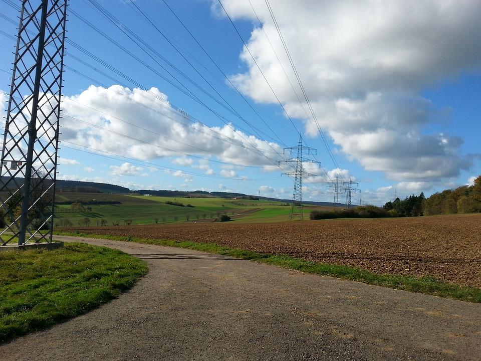 Energy, Nature, Autumn, Power Poles
