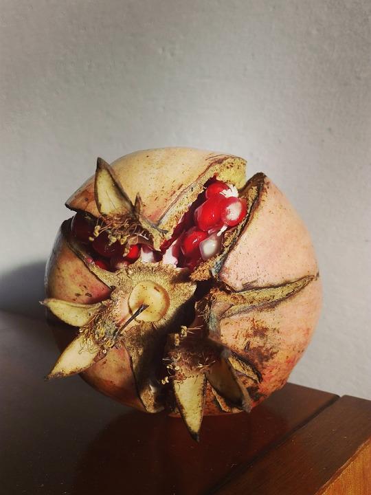Pomegranate, Fruit, In The Autumn, Autumn, Red, Mature