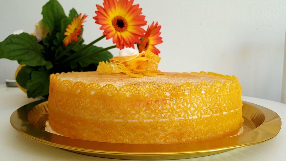 Cake, Golden, Autumn, Sweet, Yellow, Golden Autumn