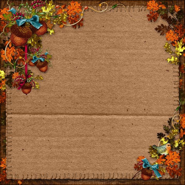 free photo autumn harvest paper background scrapbooking