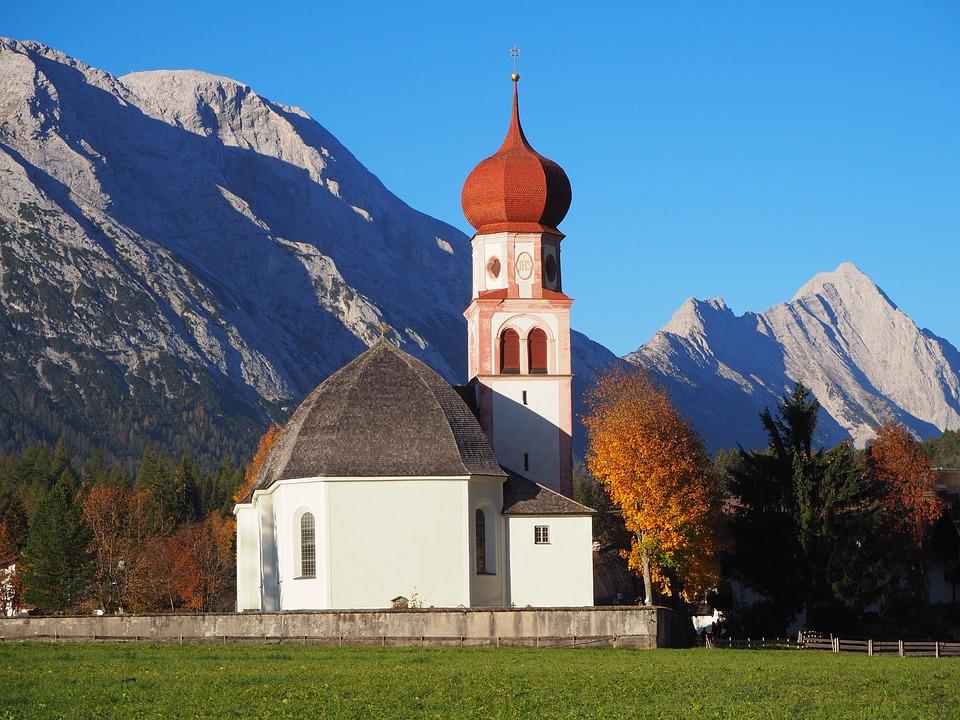 Nature, Landscape, Church, Autumn, Autumn Colours
