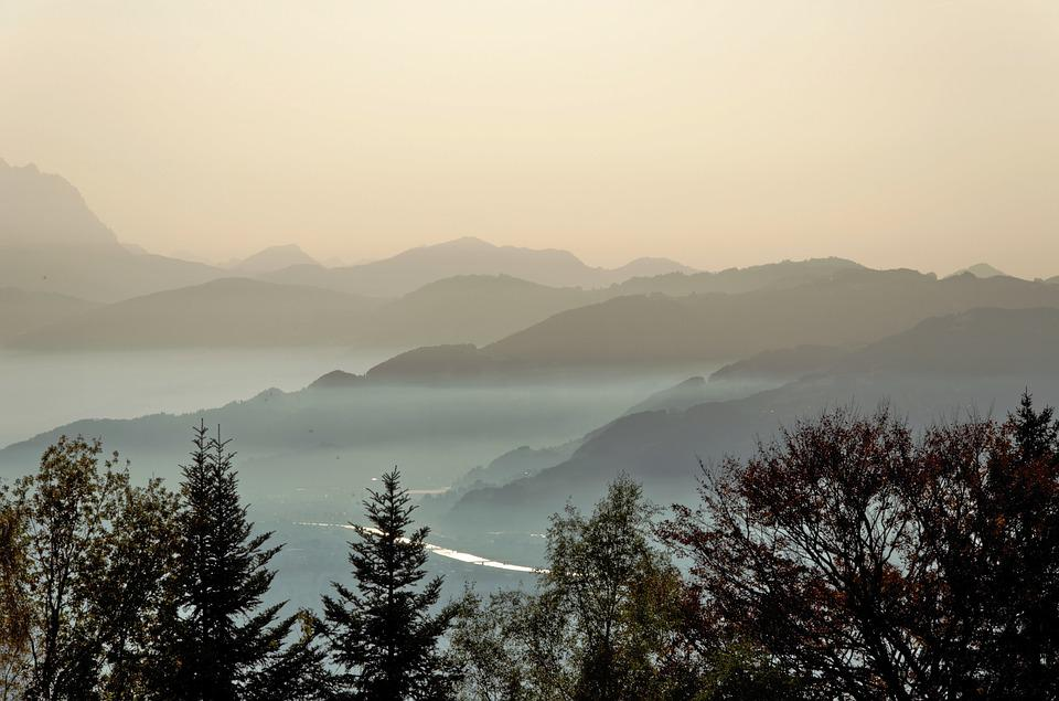 Fog, Autumn Landscape, Rhine Valley, Pledges, View