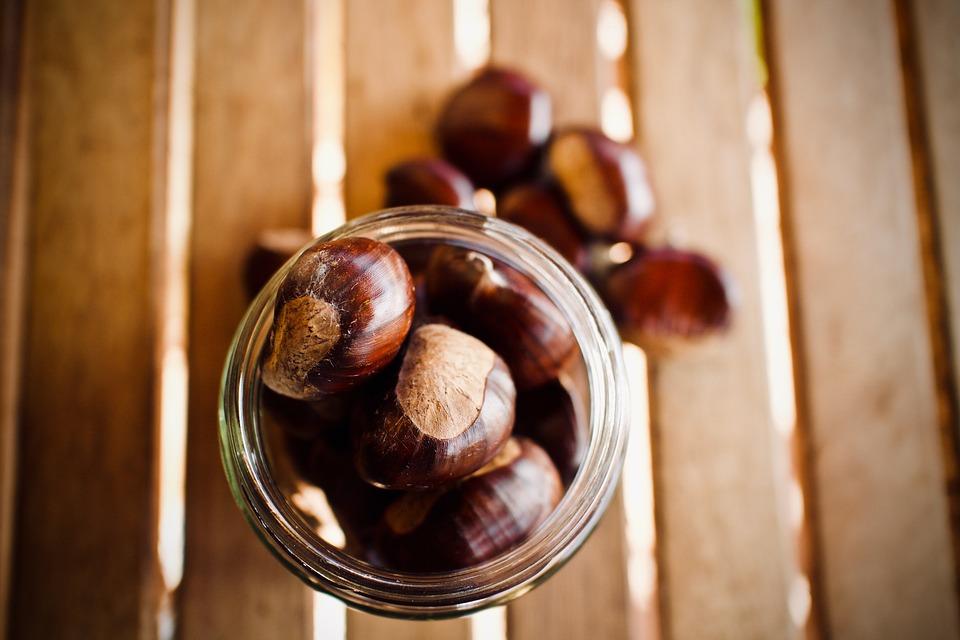 Chestnuts, Fruit, Autumn, Maroni, Nutrition, Nature