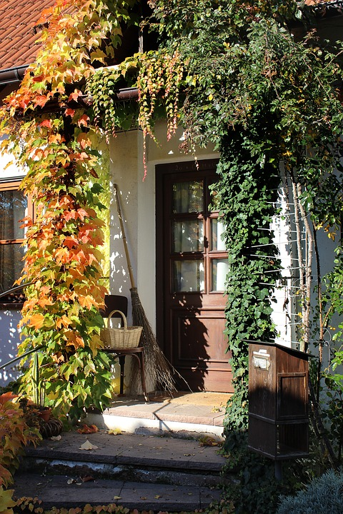 Door, Autumn Mood, Home, Input, Autumn, Broom