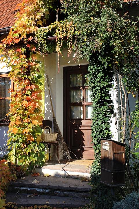 Door, Autumn Mood, Home, Input, Autumn, Broom