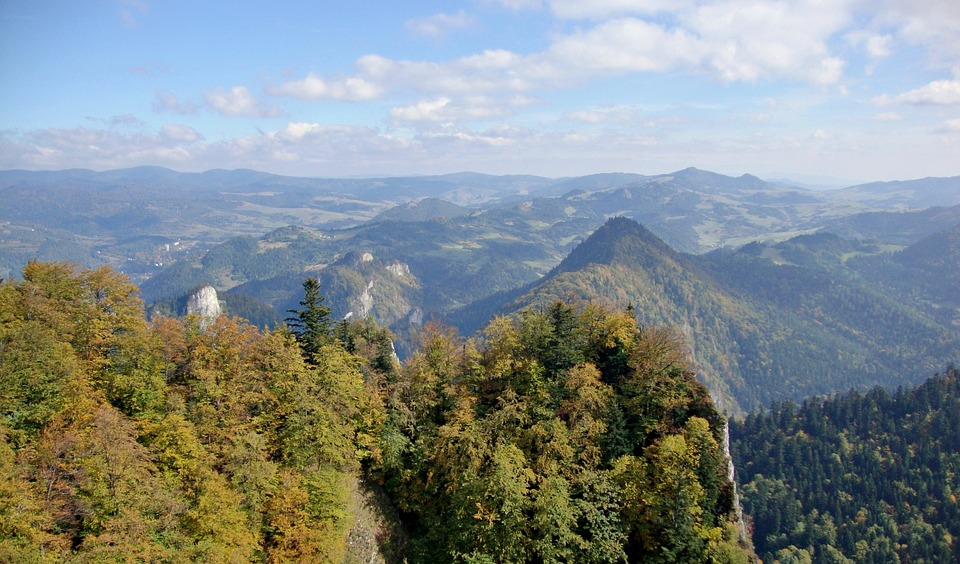 Pieniny, Poland, Mountains, Tops, Landscape, Autumn