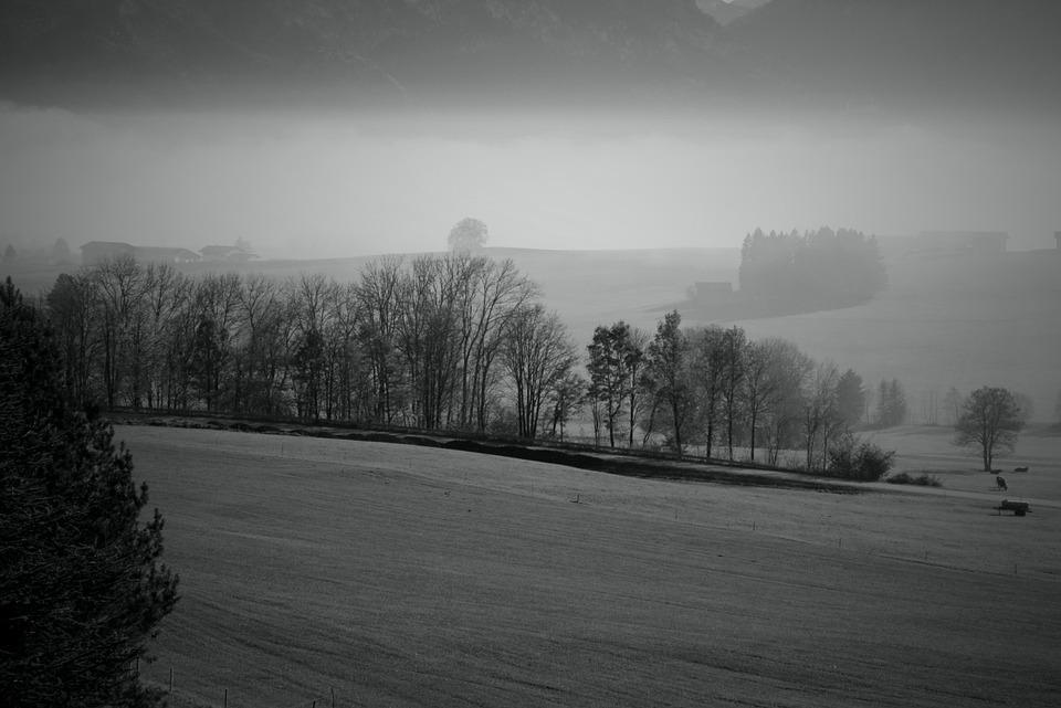 Fog, Mountains, Landscape, Haze, Nature, Autumn