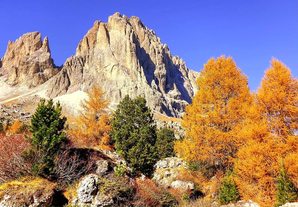 Autumn, Dolomites, Landscape, Nature, Italy, Mountains