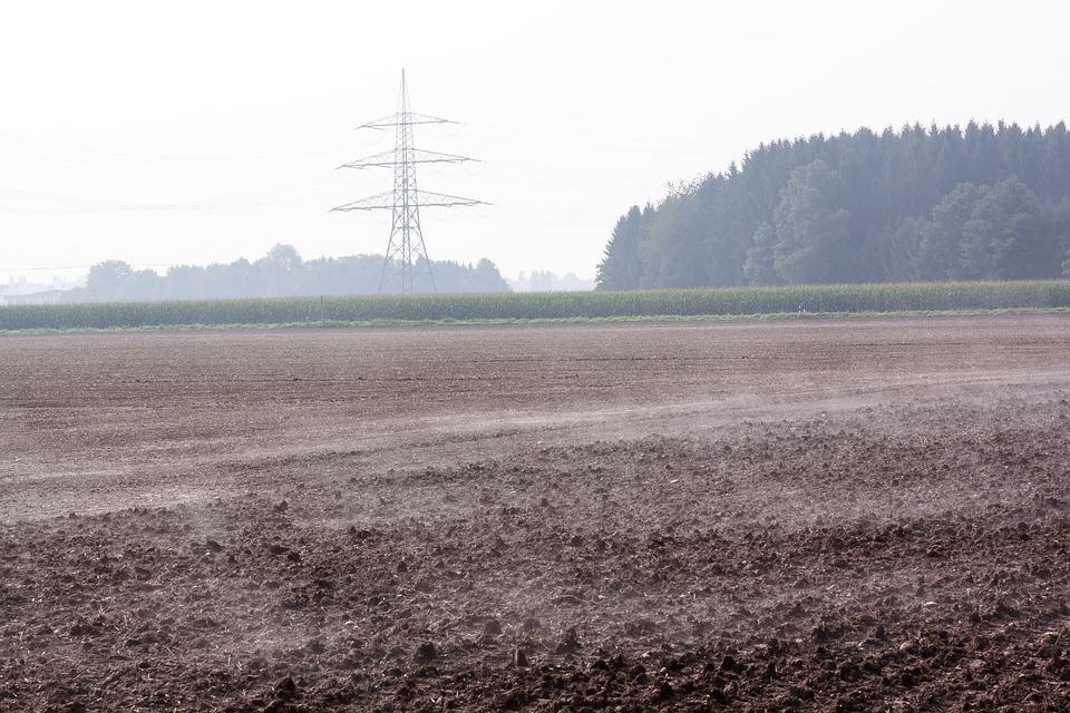 Arable, Field, Plowed, Harrowed, Fog, Steamy, Autumn