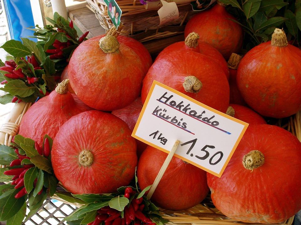 Pumpkin, Hokkaido, Vegetables, Food, Autumn, Pumpkins