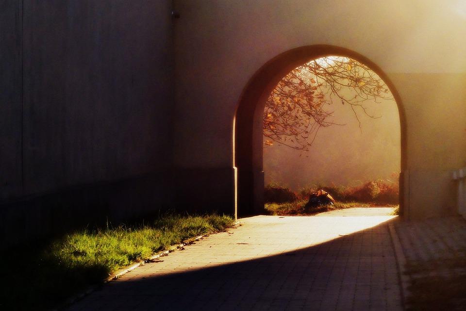 Autumn, Light, The Sun, Monument, Romantic