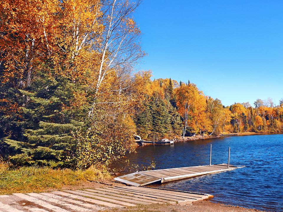 Autumn, Lake, Landing, Dock, Landscape, Vacation, Water
