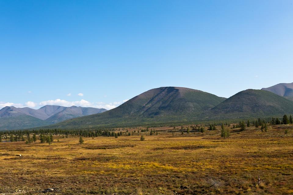 Autumn, Grass, Withered, Mountain, Far Away, Sky