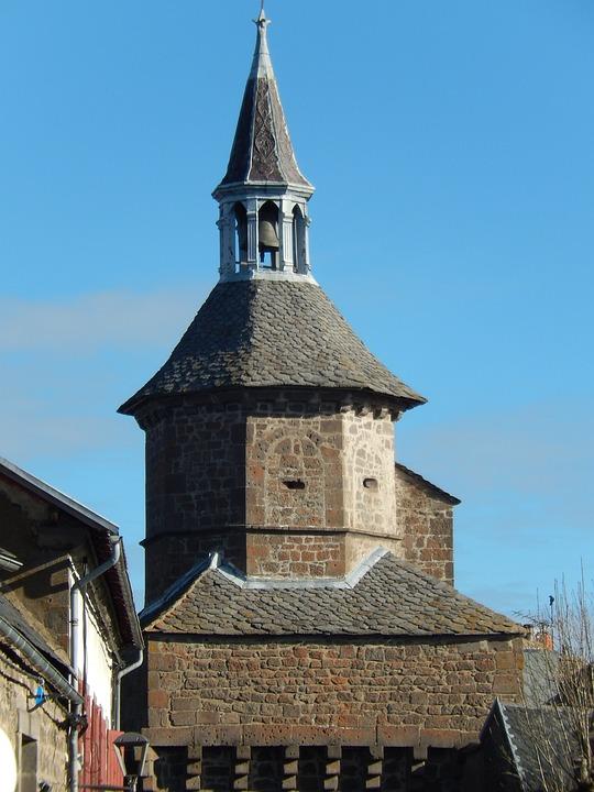 Village, Besse, Auvergne, Bell, The Tower