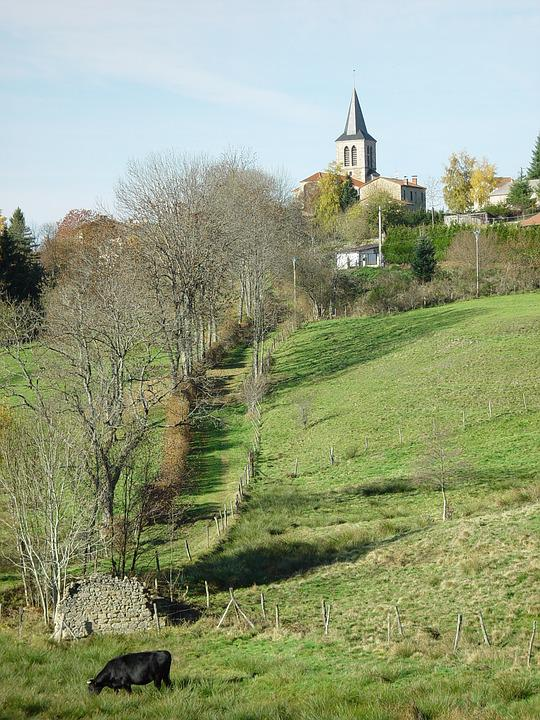 Aix-la-fayette, Auvergne, Village, France, De-dôme