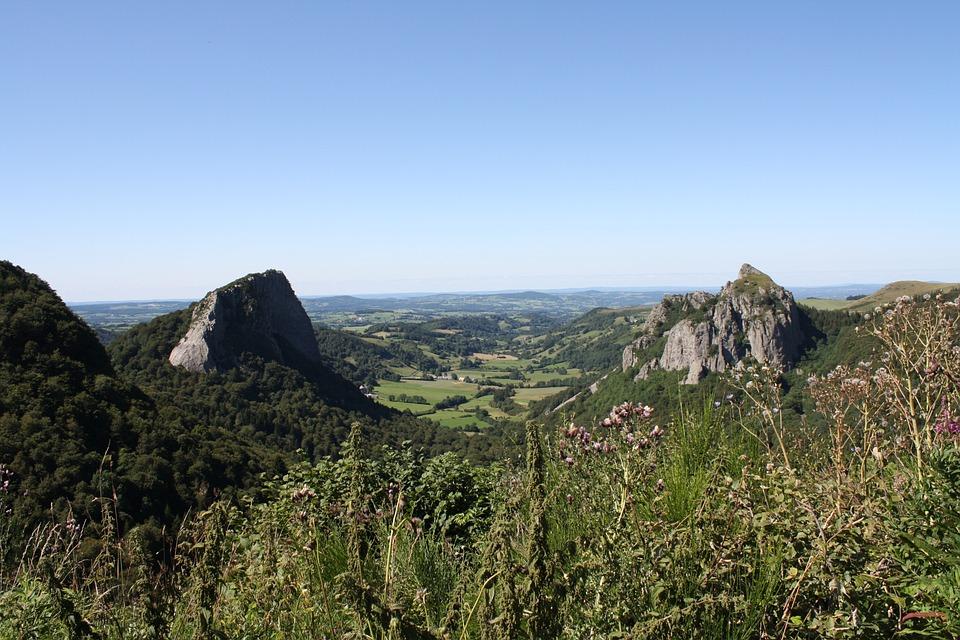Panorama, Auvergne, Volcano, France