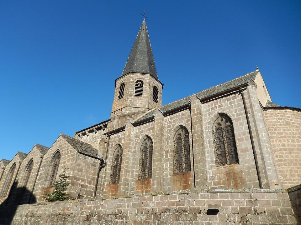 Church, Village, Auvergne, Old Village, France
