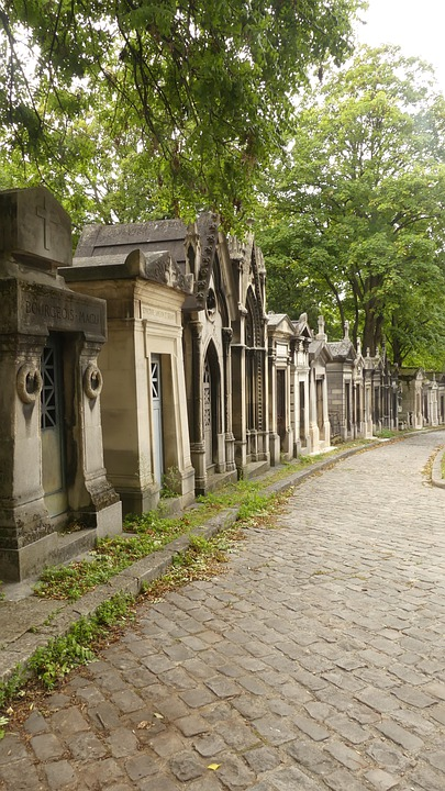 Paris, Cemetery, Graves, Avenue, Death, Mourning