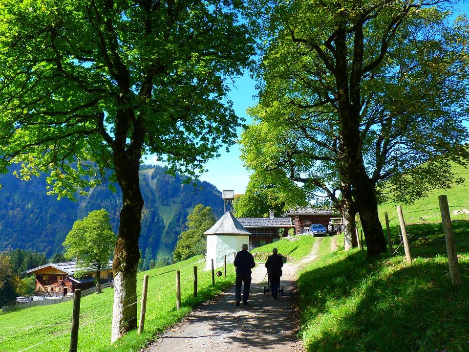 Landscape, Avenue, Away, Walk, Chapel, Trees, Nature