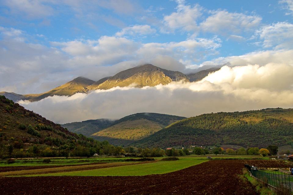 Mount Velino, Abruzzo, Avezzano, Clouds, Sky, Autumn