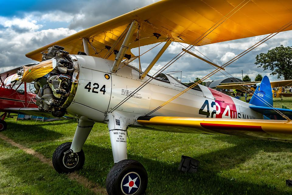Aircraft, Classic, Vintage, Aviation, Airplane