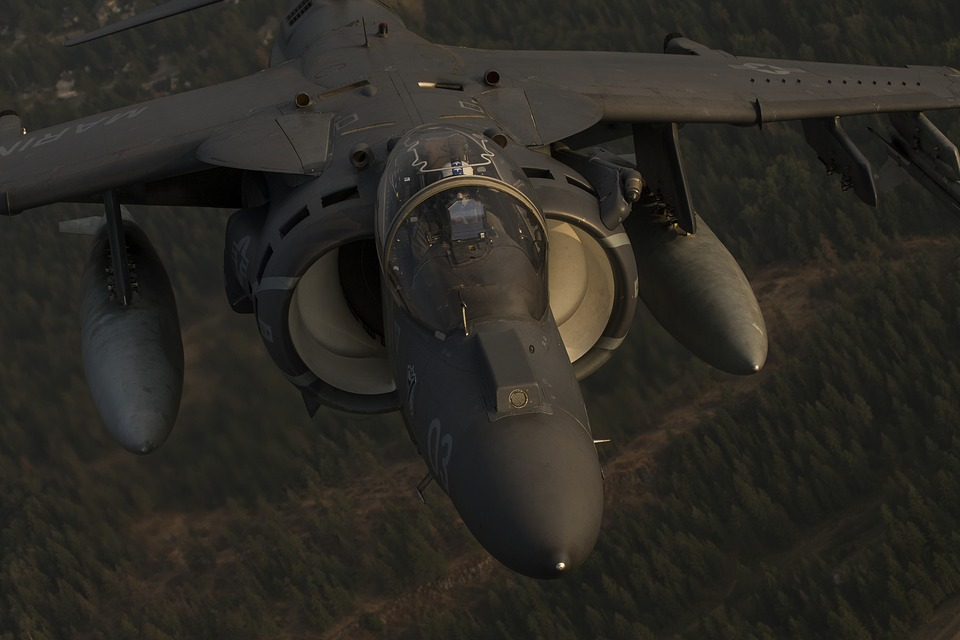 Av-8b Harrier Ii, Jet, Vtol, Aircraft, Aviation, Flight