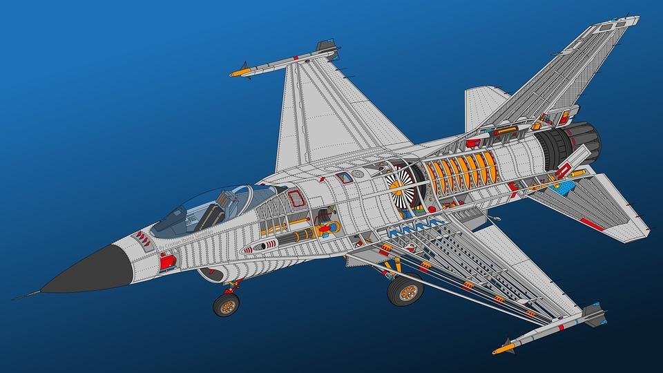 F-16, Military, Aircraft, Aviation, Speed, Plane, War