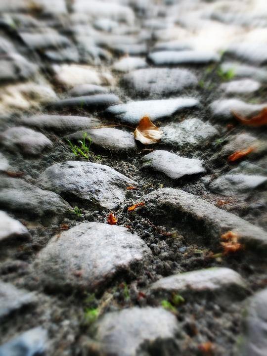 Away, Stones, Steinweg, Ground, Fall, Effect, Steinig