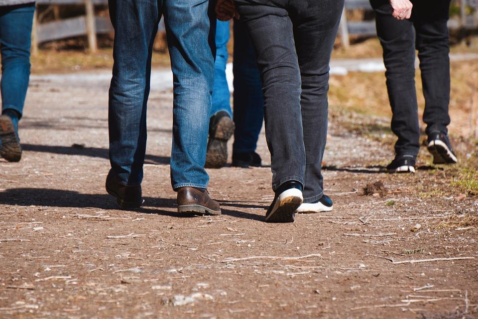 Walk, Legs, Feet, Go, Run, Passers By, Away, Road