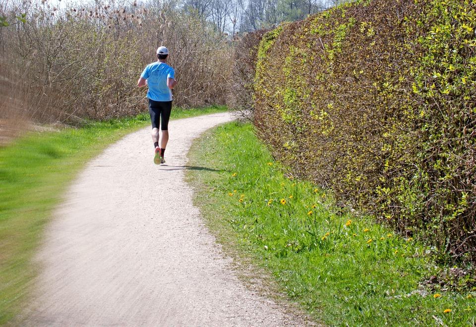 Run, Runners, Away, Nature, Green, Spring, Human