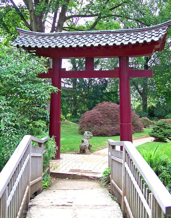 Japan, Archway, Bridge, Away, Garden, Japanese Garden