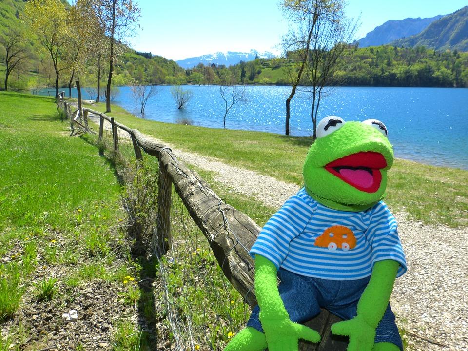 Tenno Lake, Kermit, Frog, Lago Di Tenno, Italy, Away