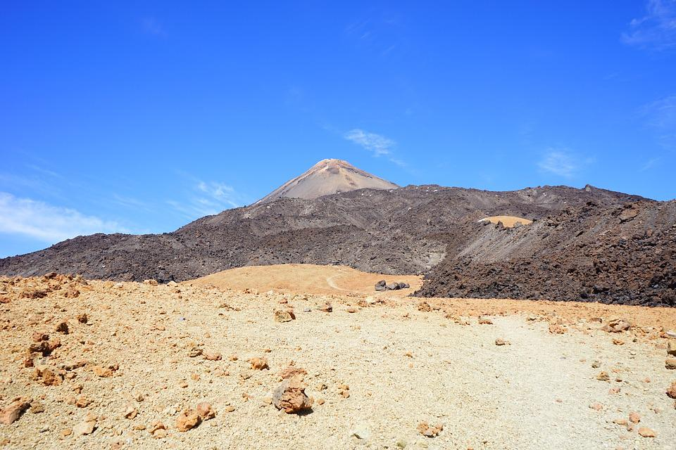 Lunar Landscape, Teide, Bimssteinfeld, Away, Path