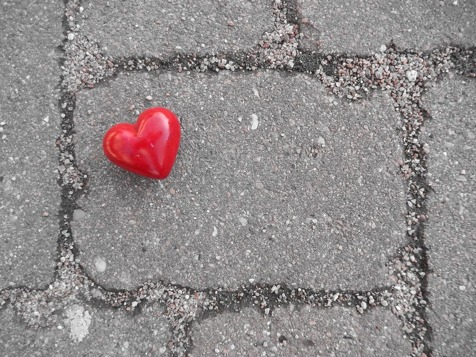 Heart, Red, Bright, Stone, Away, Love, To Find, Search